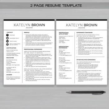 teacher resume template  ms word educator resume