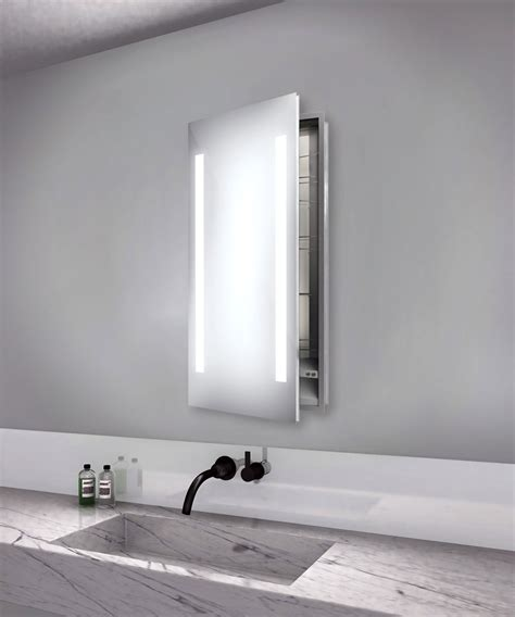 led lighted recessed medicine cabinet ascension left recessed medicine cabinet by electric