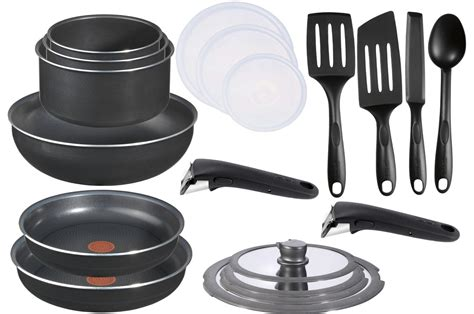 batterie de cuisine tefal induction casserole tefal ingenio 5 ptfe 20 pieces l0361405 set