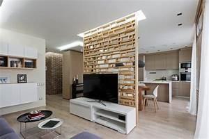 affordable modele de cuisine semi ouverte grise avec ilot With meuble salon moderne design 7 modales de meuble tv en bois archzine fr