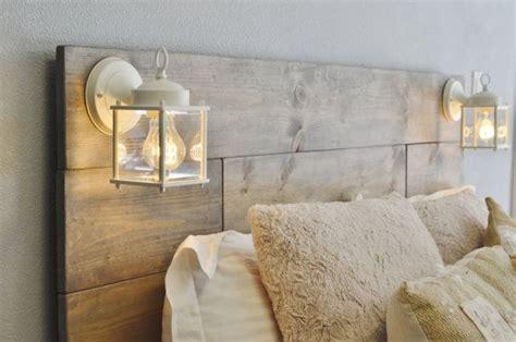 white rustic headboard wood headboard with white built in lighting cordoba