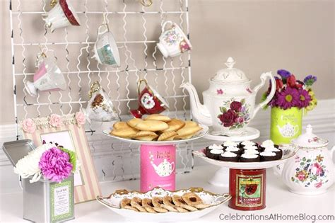 vintage glass canisters kitchen tea bridal shower ideas celebrations at home