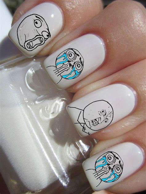 Meme Nails - meme facebook nail decals