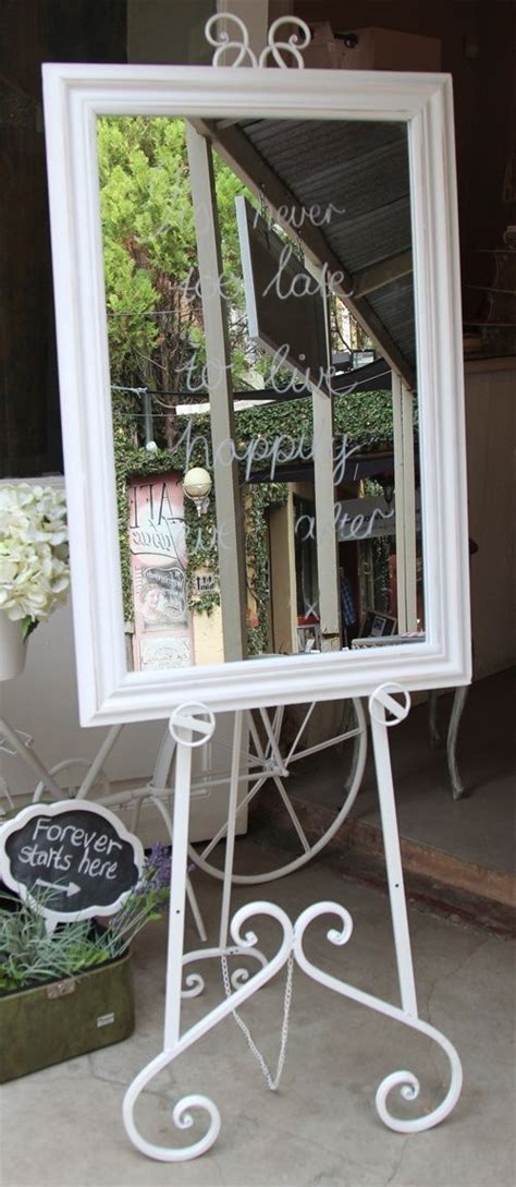 easels  mirrors white easel  white wooden frame