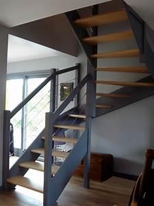 Escalier sans rambarde obasinccom for Peindre un escalier en gris 2 escalier deco peint en blanc marches et rambarde en bois