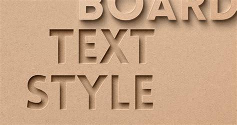 card board psd text effect photoshop text effects pixeden