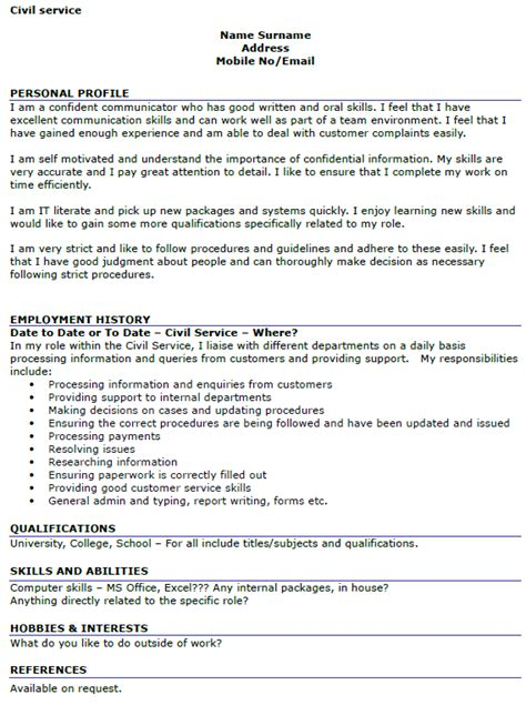 Civil Service Resume civil service resume format resume format