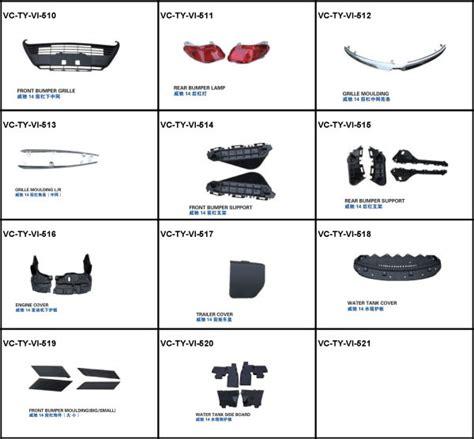 vios toyota parts body kit front bumper pp auto japan choose