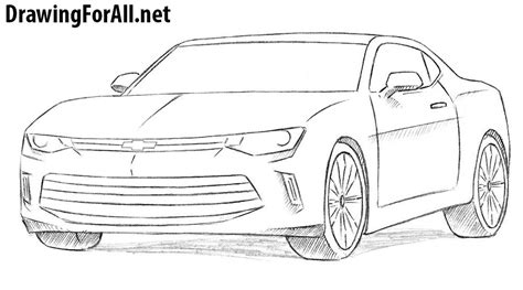 How Draw Chevrolet Camaro Drawingforall