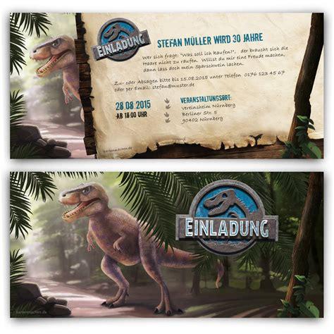 dinosaurier einladungskarten zum geburtstag bestellen