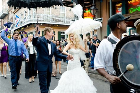 A New Orleans Second Line Wedding Parade Bespoke Bride