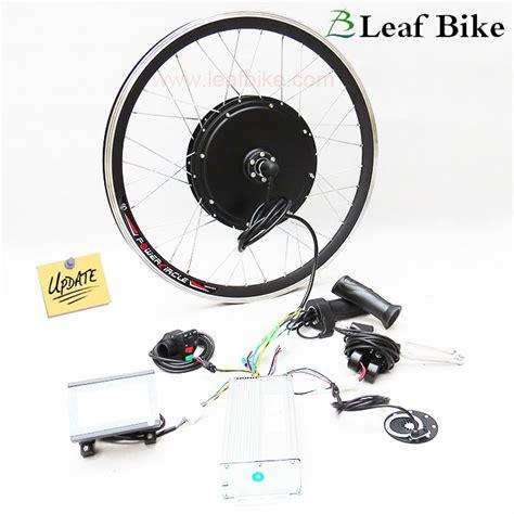 24 inch 48v 1000w front hub motor electric bike conversion kit leaf bike
