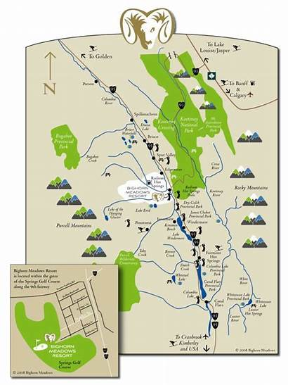 Bc Columbia Valley Meadows Map Bighorn Springs