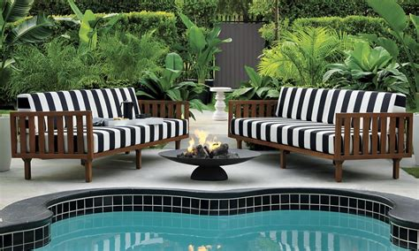 patio furniture  decor trend bold black  white