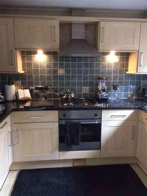 Kitchen Units With Oven, Hob, Extractor, Sink & Worktop