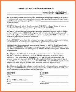 6 non disclosure non compete agreement template With non circumvention non disclosure agreement template