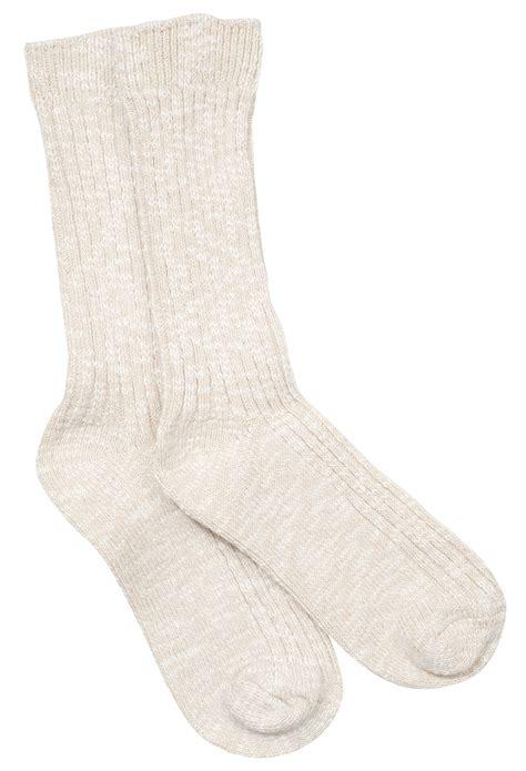 birkenstock cotton slub mens crew sock   organic cotton