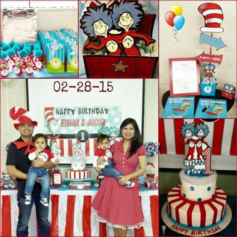 1st birthday party ideas for boys new party ideas dr seuss thing 1 thing 2 boys birthday party