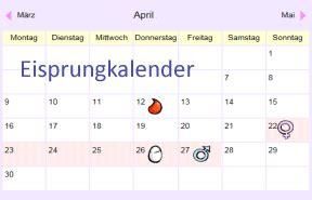 bester eisprungkalender kalender plan