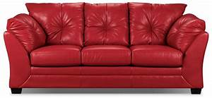 max faux leather sofa red the brick With brick red sectional sofa