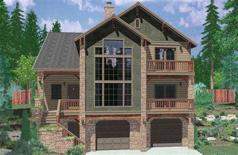 plan lb hillside retreat craftsman house plans beach house plans basement house plans