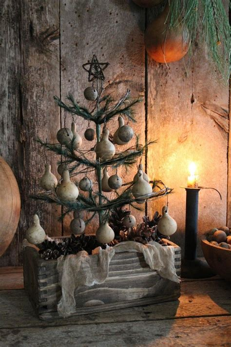 primitive early homestead  holiday feather tree