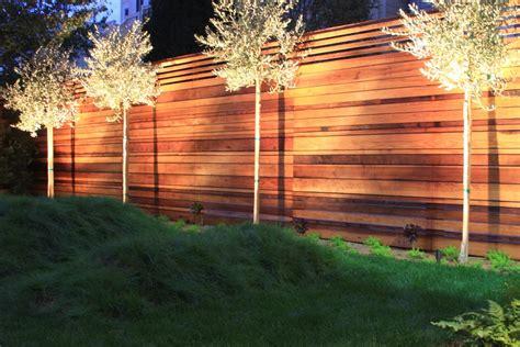 horizontal cedar fence landscape traditional  fences