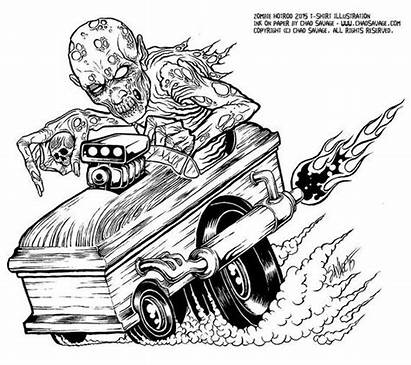 Zombie Hotrod Savage Chad Zombies Dead Things