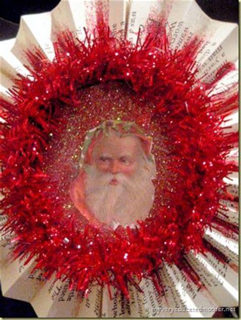 diy vintage christmas diy vintage santa ornament favecrafts com