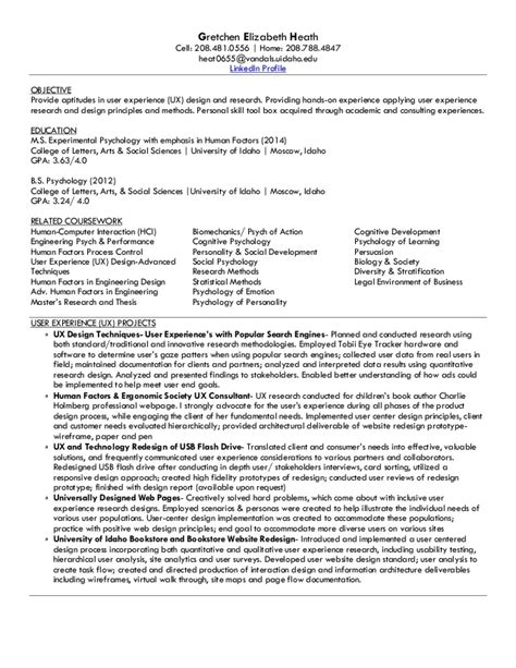 Ux Resume Objective by Ux Resume