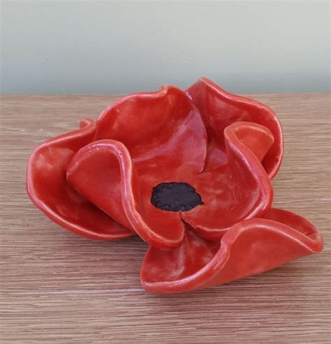 ceramic poppy bowl charlotte hupfield ceramics
