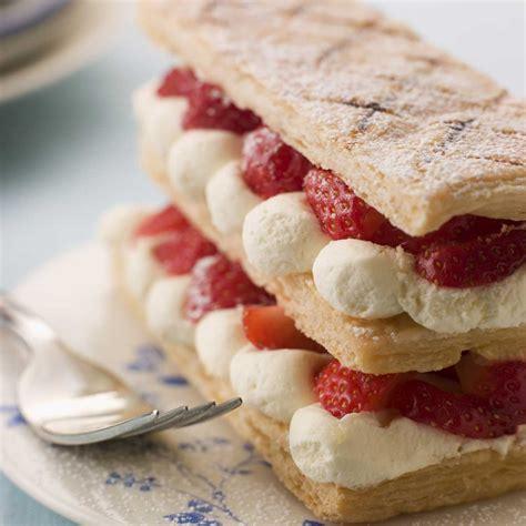 millefeuilles de fraises 224 la chantilly une recette dessert cuisine le figaro madame