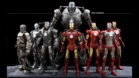 Iron Man All Suits Names And Movie Name (mark 1 To Mark 47