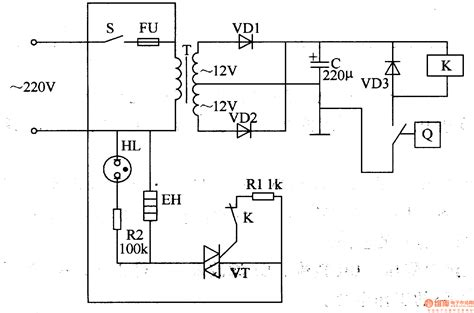 electric oven temperature controller temperature control control circuit circuit diagram