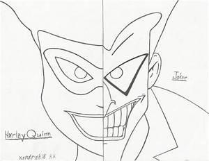 Harley Quinn and Joker split screen by Xendrak18 on DeviantArt