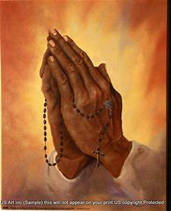 Us blackart Fineart Posters and Prints Praying Hands Rosary