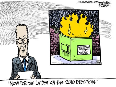 election   real dumpster fire editorial cartoons