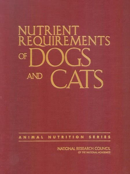 nutrient requirements  dogs  cats  national