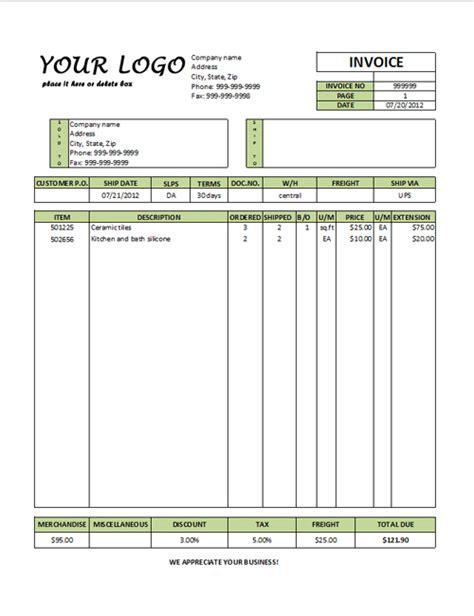 Printable Invoice Forms Studio Design Gallery Best Design