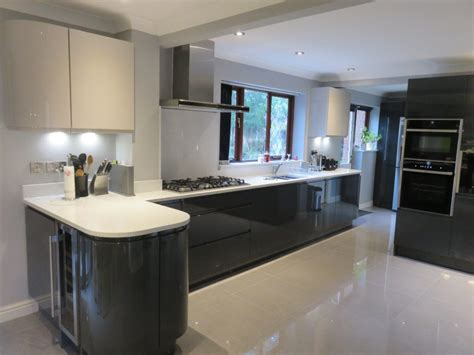 gloss anthracite cashmere handle  kitchen  kidderminster worcs