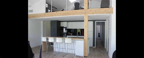 plan chambre salle de bain maison contemporaine economique avec mezzanine à toulouse