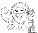 Coloring Yeti Everest Abominable Yi Printable Coloriage Compagnie Getcoloringpages Popular Colouring sketch template
