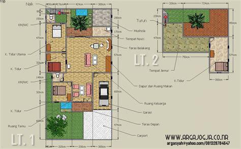 desain sketch denah rumah  lantai  lahan