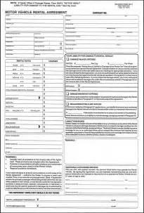 Vehicle Rental Agreement Form