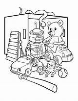 Coloring Toys Box Pages Toy Colouring Sketch Template Getcolorings sketch template