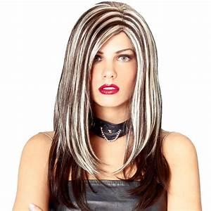 Bleach Blonde Hair With Pink Streaks Dark Brown Hair