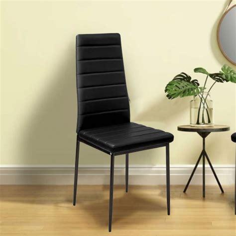 lot de 6 chaises noires lot de 6 chaises romane noires pour salle à manger ebay