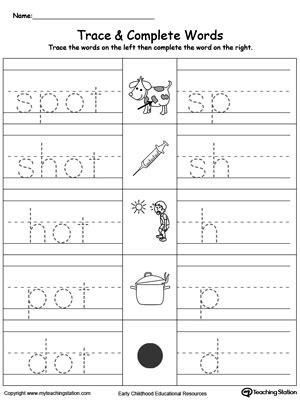 ot word family workbook for kindergarten myteachingstation com