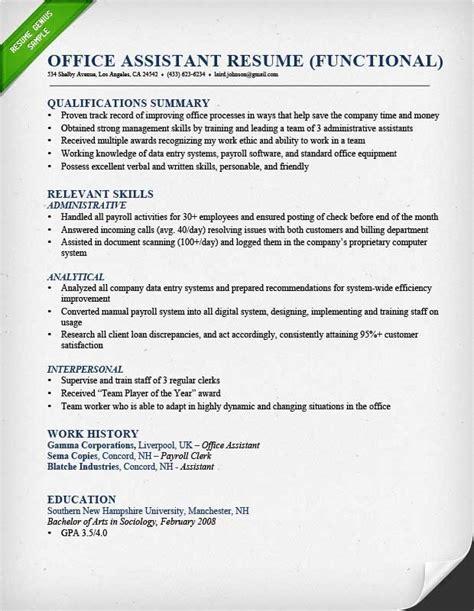 summary of skills resume exle best resume gallery