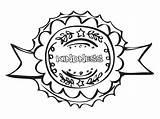 Coloring Kindness Badge Badges Printer Camping Fun sketch template